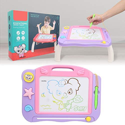 BOLORAMO Tablero de Dibujo magnético, función de Mesa Dibujar cómodamente Tablero de Pintura para niños Fácil de Usar para Dibujar cómodamente Durante 3 años +