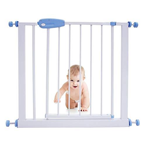 Leogreen - Cancelletto Sicurezza Bambini in Metallo, Cancello di Sicurezza senza Fori, Cancelletto di Sicurezza per Bambini, Cani, Scale, Estensibile da 74 cm a 87 cm