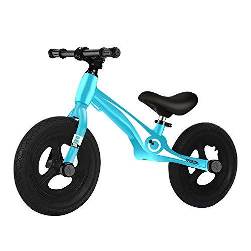 Bicicleta Infantil Sin Pedales de 12 Pulgadas, AleacióN de Magnesio Ligera Bicicleta Sin Pedales Infantil, MáXimo 50 Kg con SillíN Ajustable para NiñOs Y NiñAs/D / 91x55cm