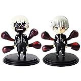 WHALLO 2 unids/Lote Anime Tokyo Ghoul Figura de Juguete Q versión Kaneki Ken PVC Modelo muñeca...