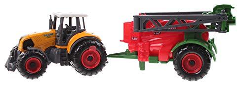 Toi-Toys Tractor con remolque, 22 cm, boquilla roja.