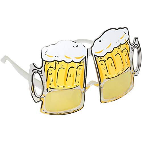 TRIXES Bierglas Brille lustiges Add-On für Junggesellenabschiede Partys und Festivals NEUHEIT