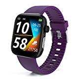 DFG Smart Watch HRV Activity Tracker Blood Oxygen Meter Heart Rate Blood Pressure Monitor Waterproof Fitness Tracker Watch with Sleep Monitor Smart Band Calories Pedometer for Women Men (Purple)
