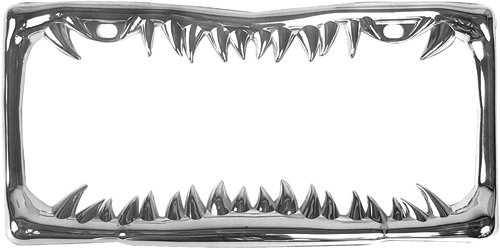 I LIKE SHARKS Metal License Plate Frame Tag Border Two Holes