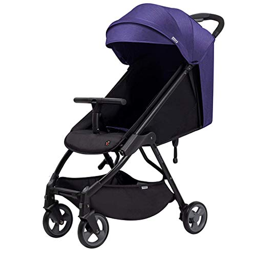 Best Bargain Cozy Baby Stroller Carriage Compact Pram Stroller (Color : Blue) (Color : Purple)
