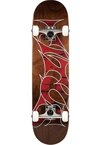 TITUS Skateboards-Complete Stained Schranz, Brown-Stained, 7.75, Komplett Board, Holzboard aus 7 Schichten Ahornholz, Skateboard für Jugendliche, Erwachsene