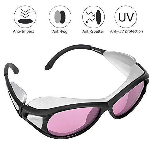 Tosuny Augenschutz L-Aser Augenschutz-Schutzbrille 790-830nm/808nm Schutzbrille L-Aser Augenschutzbrille, Deutschland Importierte professionelle PC-Linse (Polycarbonat) (Pink (