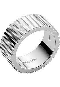 Diesel Herren Herrenring Edelstahl 66 Silber 32018381