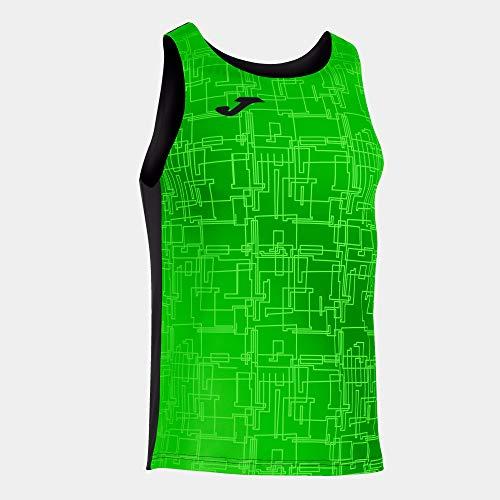 Joma Camiseta Tirantes Elite VIII Negro Verde flúor