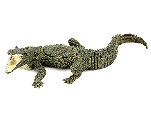 Kunst & Ambiente - Wiener Bronze - Krokodil mit Jungfer - 3-teilig - Bergmann-Stempel - Handbemalt - Viennabronze - Tierskulptur - Krokodilfigur