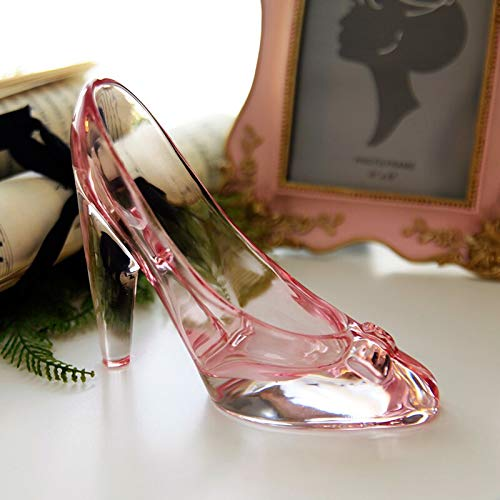 Tini Figurines & Miniatures - crystal shoes glass slipper birthday gift home decor cinderella high-heeled shoes wedding shoes figurines miniatures ornament 1 PCs
