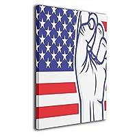 絵画 ポスター 30x40cm アメリカ国旗の拳 American Flag Fists ポスター おしゃれ インテリア 壁の絵 モダン 油絵風景画 アート おしゃれ な部屋飾り ギフト キャンバスアート アート油画 パネル ャンバス 軽くて取り付けやすい
