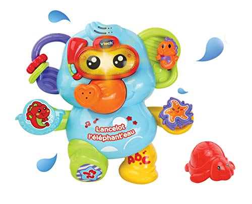 Vtech Lancelot L'Elephant Wasserspielzeug für Kleinkinder, 80-515305, Mehrfarbig – Version FR