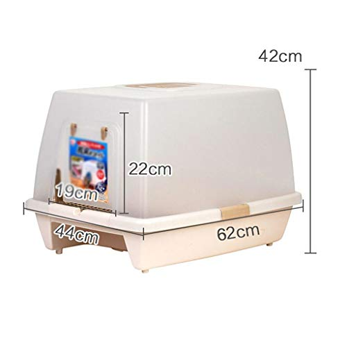 Litter Boxes Lightweight Self Cleaning for Cats, Cat Toilet Best Self Cleaning Litter Box Anti-Splashing Cat Cat Large Cat Litter Cat Supplies -Cleaner (Color : Brown)
