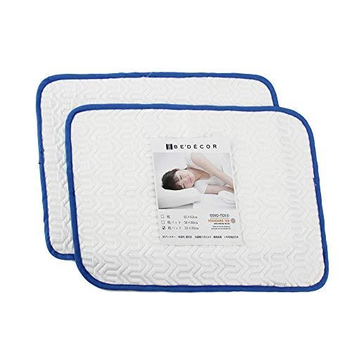 Bedecor ひんやり枕パッド 接触冷感 抗菌防臭 ピロー マイクロファイバー 2枚組35*50cm