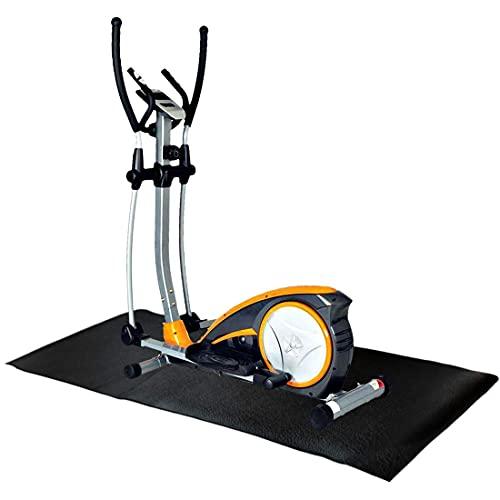 Bodenschutzmatte für Fitnessgeräte, GIOVARA Crosstrainermatte für Traingeräte, rutschfeste Sportgerätematte für Laufband, stabile Gymnastikmatte für Yoga Pilates, Multifunktionsmatte 180 x 80 x 0.6 cm