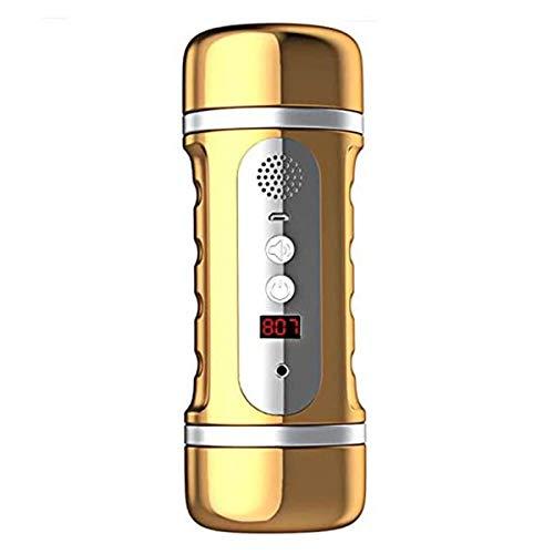 JZZLI Männer Automatische Vergnügen Toy Hands Free Mǎstǘrbatìon Cup Male Massage Sucker Penispumpe vibrierendes Relax Spielzeug T-Shirt