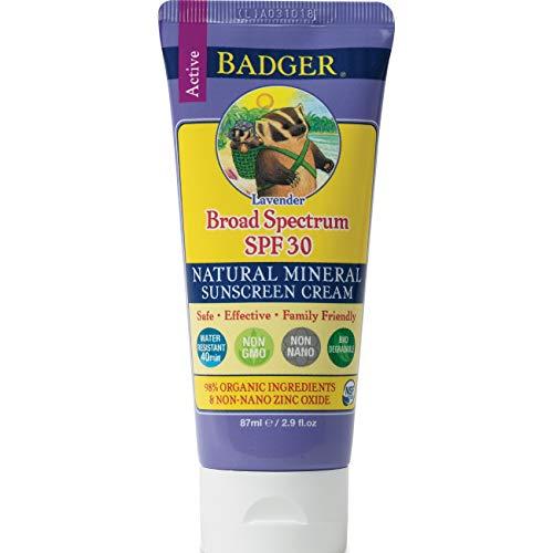 Badger SPF 30 Lavender Sunscreen Cream, 2.9 Ounce
