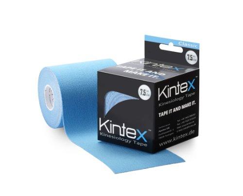 Kintex Cinta Kinesiology Classic 7,5cm X 5m, Cinta Fisiológica, Cinta Terapéutica, Elástica, Impermeable, Azul