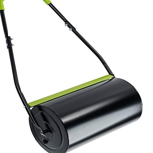 Xonic Rasenwalze Handwalze Rasenroller Gartenwalze Rasenlüfter Metall Ackerwalze 45l