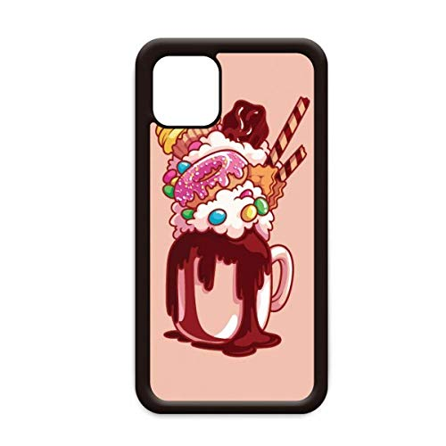 Donut Chocolade Biscuit Cup Ice Cream voor Apple iPhone 11 Pro Max Cover Apple mobiele telefoonhoesje Shell, for iPhone11 Pro
