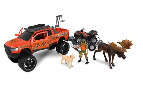 NKOK 1: 18 Realtree 11Piece Ram 1500 Rebel & Polaris Sportsman Moose Hunting Playset