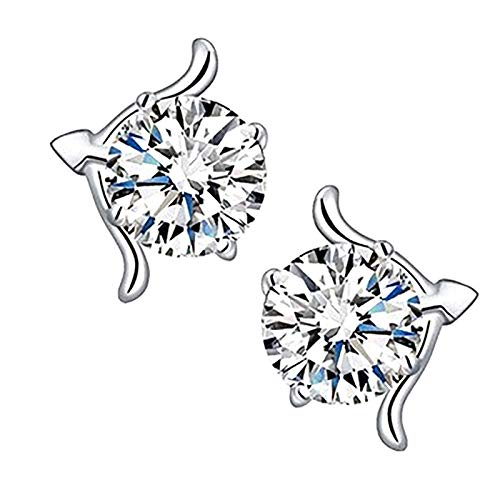 jieGorge Earrings, Metal Alloy Hollowing Out EarringInlaid Confession Lady Jewelry Gift, Jewelry for Women Gifts (L)