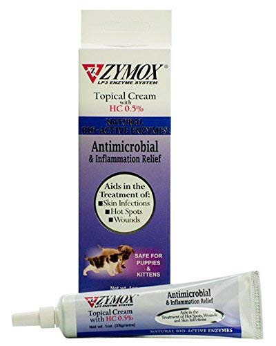 Zymox Antimicrobial & Inflammation Relief Topical Cream with 0.5 Hydrocortisone 1oz