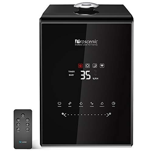 Proscenic Humidificador ultrasónico e inteligente 5.5L control APP y Alexa, Difusor de...