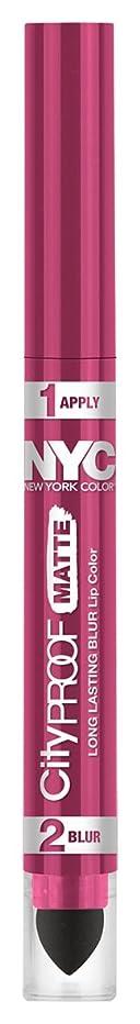 存在する保存するミキサーNYC City Proof Matte Blur Lip Color - Pink City (並行輸入品)