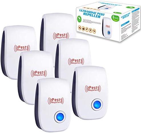 Palmandpond Ultrasonic Pest Repeller 6 Pack 2021 Newest Upgraded Ultrasonic Pest Repellent Indoor product image
