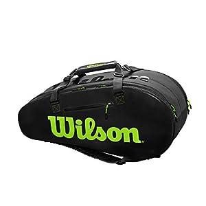 41HH8Ztz pL. SS300  - Wilson Sporting Goods - Bolsa de Tenis, Color Negro/Gris, OSFA