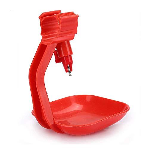SALUTUYA Bebedero para Aves de Corral No se producen Fugas para(Integral Hanging Cup Drinker for Square Tube Duck)