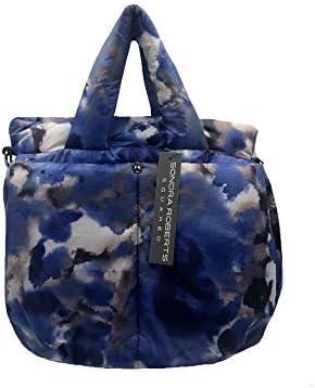 Sondra Roberts Nylon Top Handle Bag, Blue Multi