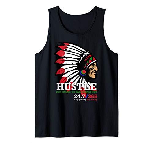 Hip-Hop-Liebhaber Hustle Indianer-Kopfschmuck Hartes Tank Top