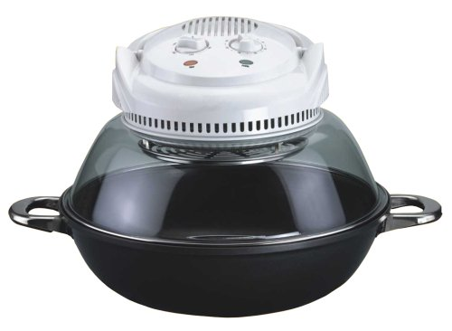 Sunpentown Home Indoor Kitchen Convection Oven With Wok Base - Nano-Carbon Plus FIR Heating