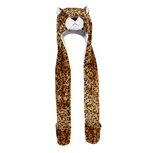 Diadia Plush Novelty Animal Hat 3 in 1 Beanie with Long Paw Scarf Mitten Combo One Size Fits All Adults /& Kids//Soft Bear Warm Beanie Hat