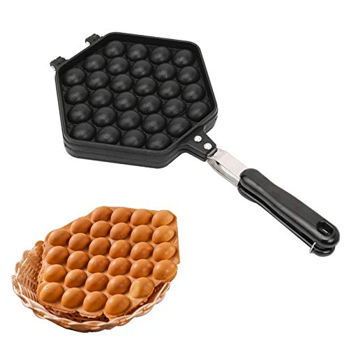 YIHGJJYP Waffles Piastra Eggettes cialde Soffio Ferro Hong Kong Uova Bubble Machine Torta Bolla Forno cialda QQ Waffle
