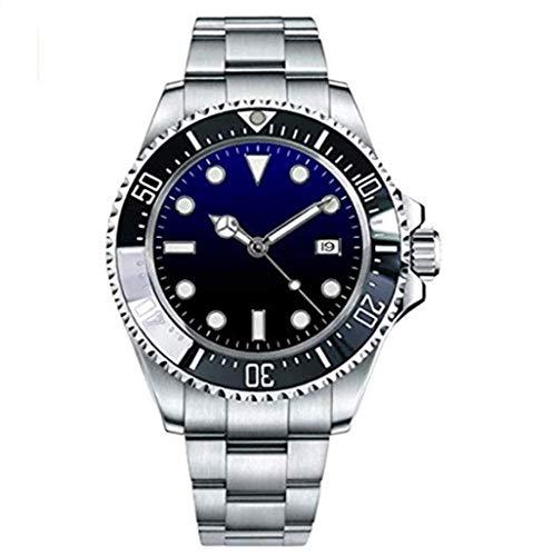 Tickwatch Parnis 47mm Deep Sea Dweller lunetta cerimoniale quadrante blu nero automatico meccanico orologio da uomo