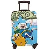 Funda de Maleta IUBBKI Adventure Time Finn Jak Trolley Fundas de Equipaje de Viaje Protector de Maleta Funda de Equipaje Lavable S