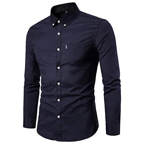 MUMU-001 Feitong mannen de herfst winter casual feesten lange mouwen draai- onderkant kleur hemd top blouse