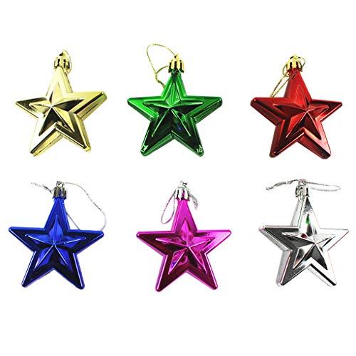 Star Pendant 6Pcs Christmas Window Decorations Christmas Tree Ornaments Home & Garden Decoration & Hangs Christmas for Faclot