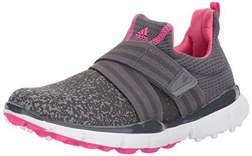 adidas Women's Climacool Knit Golf Shoe, Grey/Shock Pink, 6.5 M US