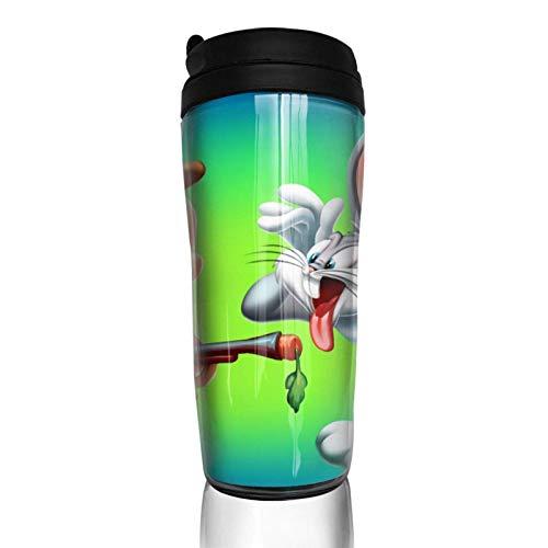 haiyou Cartoon B-ugs B-unny Kaffeetasse Doppelwand Vakuumbecher 14 Unzen isolierte Flasche tragbare Becher Reisebecher 350ml