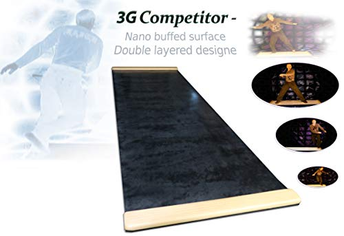 3G Competitor Slide Board with Nano Buffed Surface (Black, 6ft)