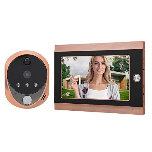 Timbre con Video, Visor de Puerta con Pantalla LCD, ángulo de visión(European Standard (100-240v))