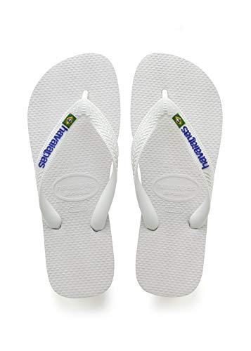 Havaianas Unisex-Kinder Brasil Logo Zehentrenner, Weiß (White), 27/28 EU