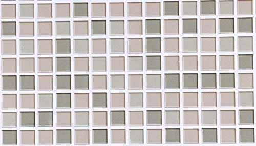 40X300cm Mosaico Vinilo Adhesivo para Azulejos Baño Mosaic Papel Pintado Muebles Pegatinas Impermeable A prueba aceite Pared Encimera Cocina Azulejo Autoadhesivo