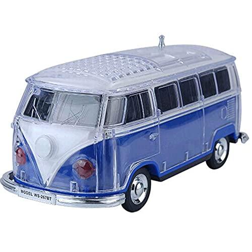 SPARKX Altavoz Bluetooth Portátil Inalámbrico, Mini Altavoz del Modelo De Bus, Luces De Colores con Manga De Cristal, Multifunción, Multi-Color Opcional,Azul,21~8~9.5 cm