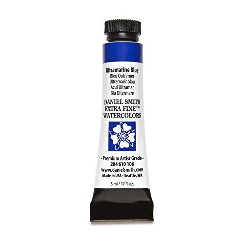 DANIEL SMITH Extra Fine Watercolor Paint, 5ml Tube, Ultramarine Blue, 284610106